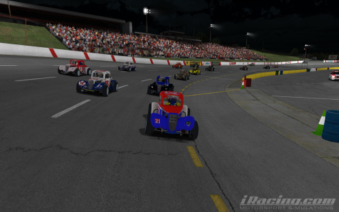 Typical close racing at BRL